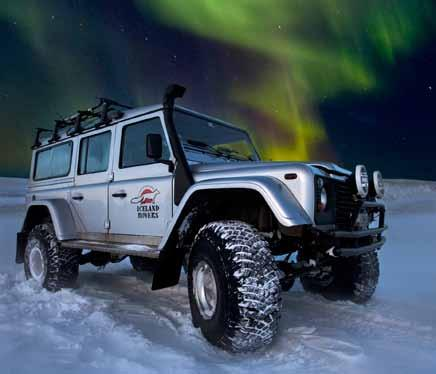 NORTHERN LIGHTS AND LOBSTER ILR06 DURATION 5-6 HRS LEVEL EASY Aurora super jeep hunt Black sand beaches Traditional lobster feast You will be whisked out of Reykjavik in search of a night sky that is