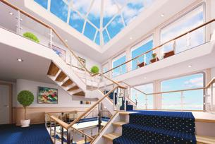 NEW CLASS OF MODERN RIVERBOATS: AMERICAN SONG COMING IN 2018 Grand views from our four-story glass-enclosed atriums Relax and reflect on