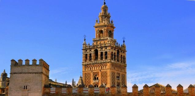 Visit to Seville s historical center including the Reales Alcazares & its gardens and the Cathedral of Seville.