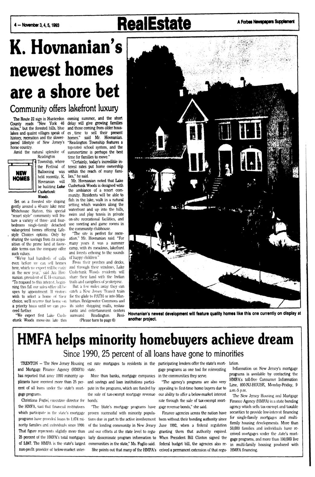4 - November 3,4,5 t 1993 RealEstate A Forbes Newspapers Supplement K.