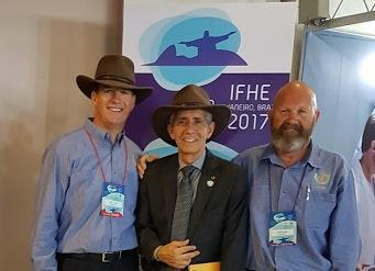 At the end of the event was presented by Australia's representatives, Darryl Pitcher and Darren Green, the special invitation to the upcoming IFHE Congress to be held in the City of Brisbane,