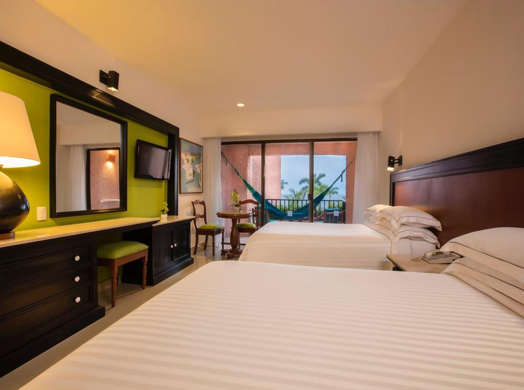 Rooms DELUXE WITH SEA VIEWS In addition to the comfort and convenience that guests expect, these rooms boast spectacular views of the bay from their private balcony or terrace.