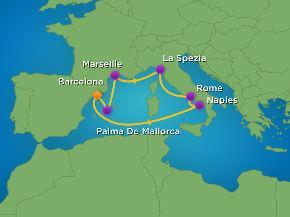 com Barcelona & Western Med Cruise 11 Days September 2016 from $2795 including Airfare Leaving From Barcelona, Spain SEPTEMBER 2016 Ship Allure of the Seas in Outside Cabins Ocean