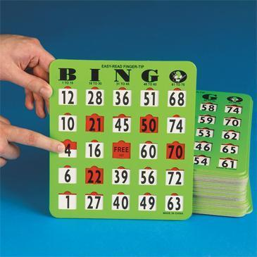 Jumbo Slide Bingo Cards 2011.