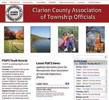 Several county associations of township officials have created an online presence through websites and, in one case, a Facebook page.