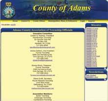 At the moment, the site has links to such information as meeting dates and minutes, officers, training offered by the county association, state and federal legislative districts, school districts,