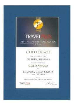 Business Class Unisex Asia/ Oceania By Travel Plus Awards  First