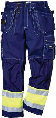 HIGH VISIBILITYCOTTONTROUSERS Trousers FAS-247 Two front and back pockets with a bellows pleat for extra width /