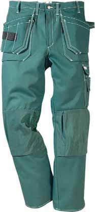 with Cordura extra pocket, three small pockets and tool loops / Leg pocket with a