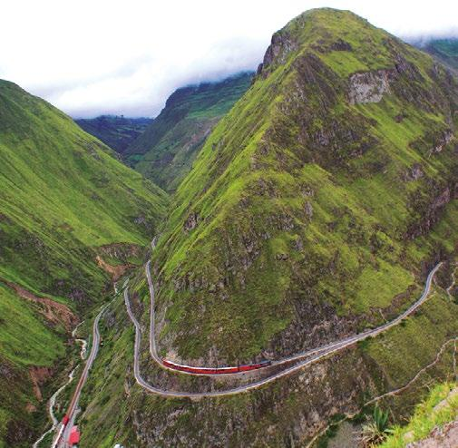 Train to the Clouds (guayaquil quito) 4 days/4 nights Saturday to Tuesday On this journey on board Tren Crucero you will climb about 12000 ft.