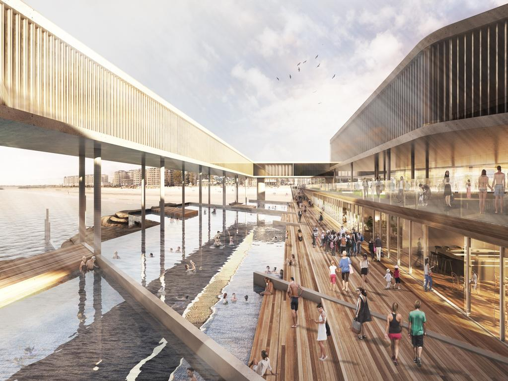 Preliminary designs for the project include a major expansion and refit of the existing Glenelg jetty to support a range of commercial developments, including a hotel, restaurants and recreational