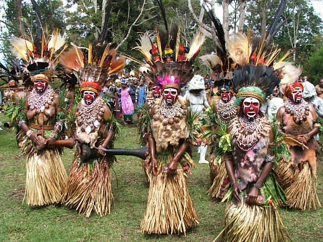 The pride of each tribe is vested in its dancing groups which vie for attention and prominence on the dance ground often there are several groups performing at once in different corners of the