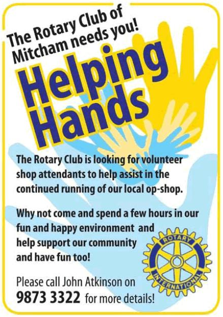March 2016 2 Merle Atkinson Joan Daw Saro Richard All on 1st March Jack and Pamela Butler March 16th Rotary Grace For good food, good fellowship and the opportunity of service through Rotary, we give