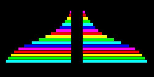 Population Pyramids in East Africa: