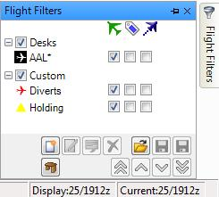 within any view window. Custom - In addition to company flights of interest, you may want to create a Custom flight filter, based on a variety of criteria.