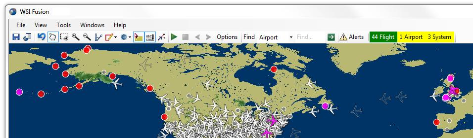 Page - 13 - Alerts The alerting functionality in WSI Fusion allows users to specify conditions related to flights