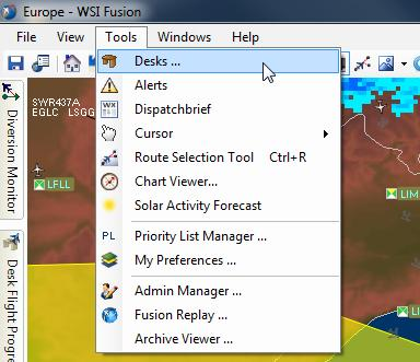 Page - 3 - Managing Desks & Desk Properties From the dashboard, select Tools > Desks After login, you may o change the desk you signed into, o select a default
