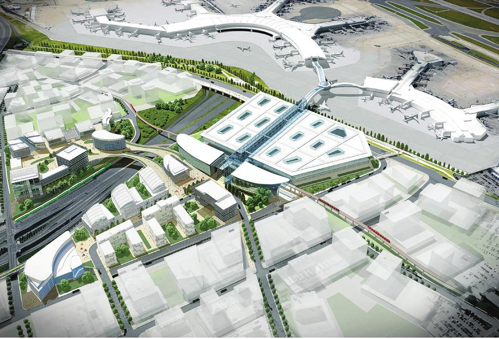 5 Regional Transit Centre The Master Plan outlines plans for a new Regional Transit Centre on airport property, which is key to increasing the share of passenger and employee trips to the airport by