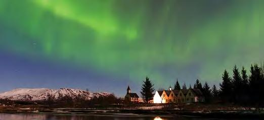 sky in search of the northern lights,* a truly spectacular sight.