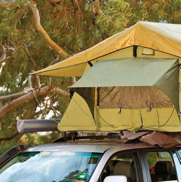1 2 TJM ROOF TOP TENTS Raised climate cover sheet, controls temperatures and reduces condensation. 3 Dual pop-up window awnings. 4 1 Nylon mosquito net screens with YKK zips.