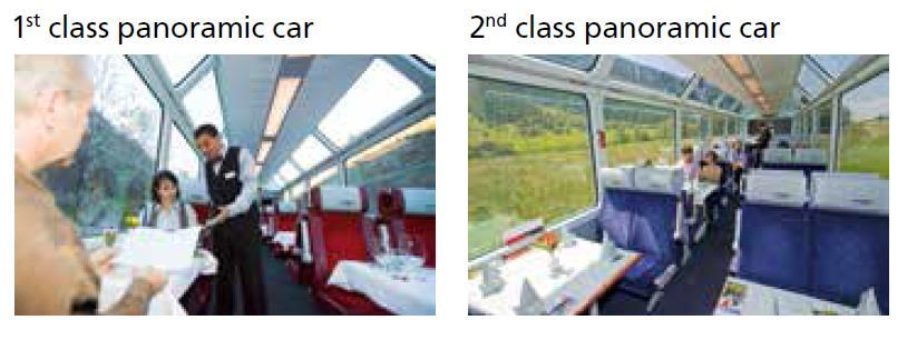 the roof the passengers, both classes have a