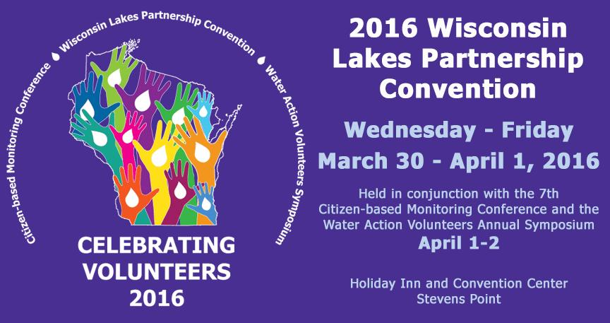 Wisconsin Lakes Partnership Convention Business Exhibit Opportunities This 38 th annual Wisconsin Lakes Partnership Convention will be celebrating not only lake volunteers, but also other water and