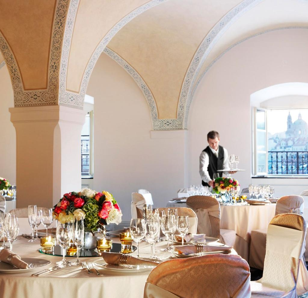 Bring together friends and family for a memorable celebration at Four Seasons Hotel Prague hosting from 10 to 200