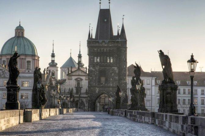 The city of a hundred spires mixes Gothic, Romanesque, Baroque and Art Nouveau