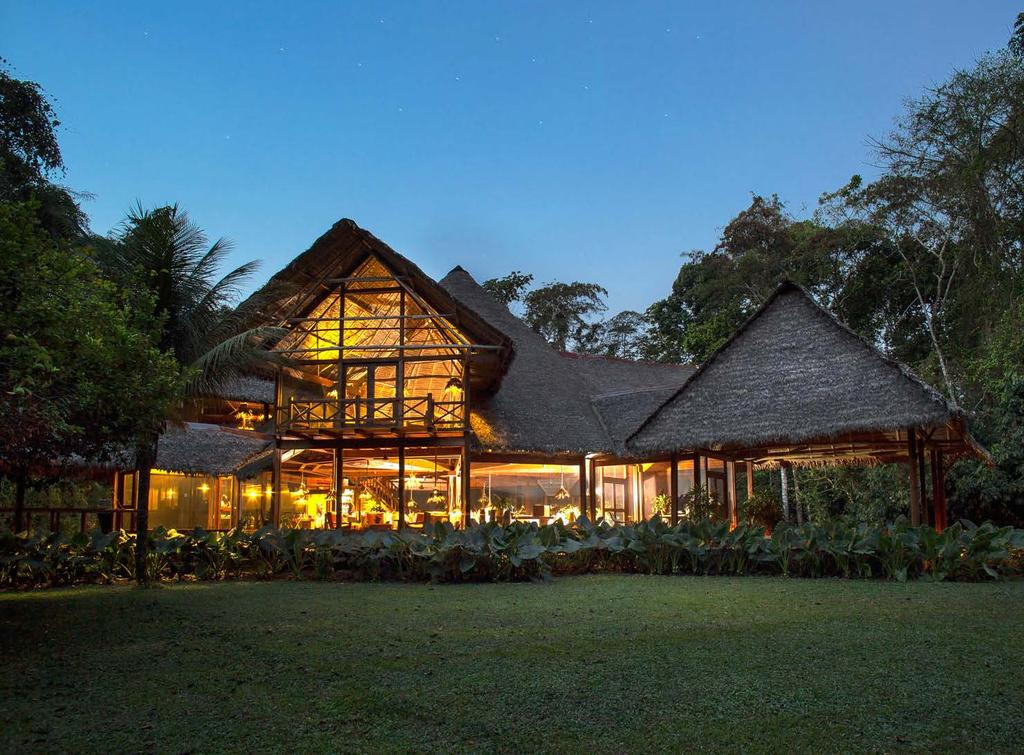This simple yet hospitable, limited-electricity lodge has been an ecotourism pioneer for the past 37 years, promoting an innovative and sustainable use of the rainforests, and supporting important