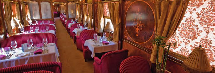 Extremadura Itinerary Andalusia Itinerary Coach ride Step on board the Al Andalus and discover why this palace on wheels is considered the most spacious and luxurious tourist train in the world.