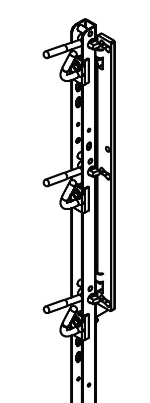Locking Your Trimmer Rack is designed so that all three trimmers can be locked on the pole using only one padlock (not included).