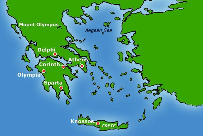 Geography City-states began to emerge because Greece was divided by geographic