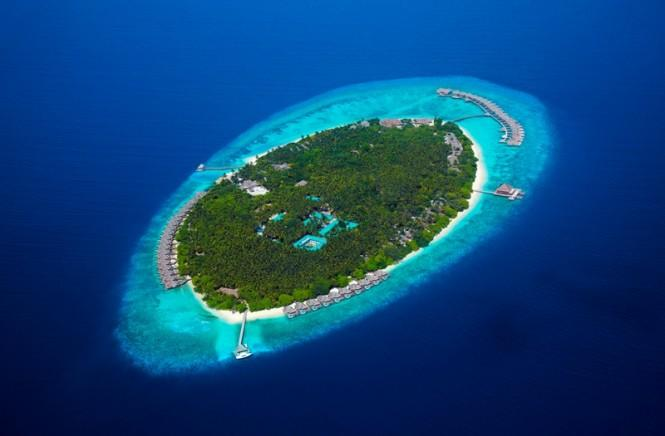 Dusit Thani Maldives Aerial - Image Courtesy of Dusit Thani Maldives Changes like these brought about the coveted distinction of the entire Baa Atoll being declared a UNESCO World Biosphere Reserve a