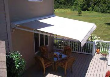 Studies have been done by air conditioning professionals that clearly show that homeowners who install fabric awnings can reduce solar heat gain by up to 77% and lower the inside Shade When You Need