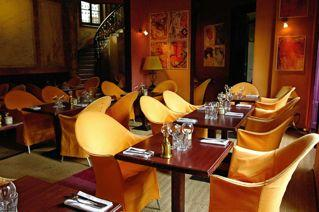 restaurant with a warm atmosphere and cheerful