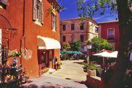 Luberon Roussillon The ochre red village of Roussillon is famous for its magnificent combination of colours and can be