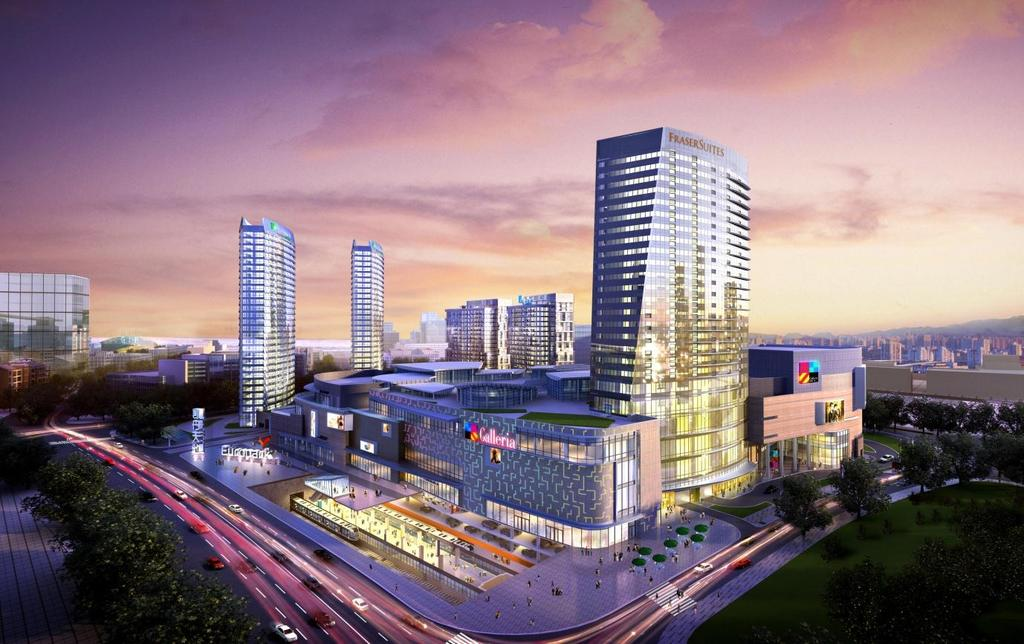 Frasers Hospitality On Track To Grow China Presence Footprint in China envisaged to double to 30 properties with over 7,000 keys by 2019 Artist s impression of Fraser Suites Dalian (foremost tower)