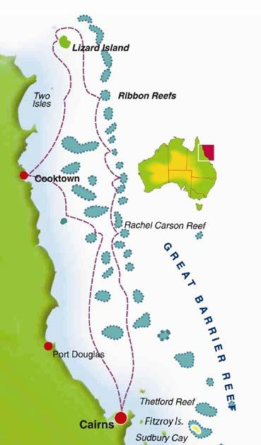 4 Night Great Barrier Reef Cruise - Tour Code CC4 Cairns Lizard Island Cairns Day 1: Cairns 4:00pm: Board your Coral Princess Cruises small ship for a 5:00pm departure from Cairns.