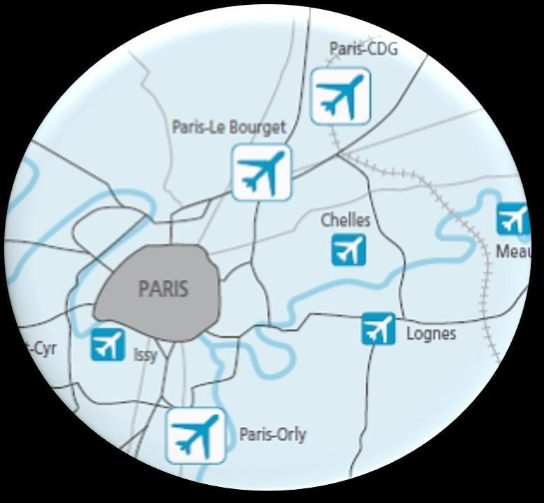 PARIS AIRPORT SYSTEM IS THE ONLY ONE OF ITS KIND IN EUROPE PARIS AEROPORT PARIS-LE BOURGET Largest business airport in Europe Industrial and aeronautical area
