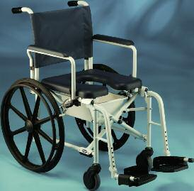 Invacare Mariner Rehab Shower Commode Chairs Invacare Mariner Rehab Shower Commode Chairs offer aluminum frames and stainless steel hardware that are rust-resistant, making them ideal for use in the