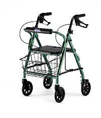 It features a comfortable knee pad for resting the wounded limb, and it is easily maneuverable with its five-inch front swivel wheels.