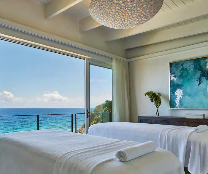 Amenities & Services SPA & WELLNESS The Spa perched high on the cliffs of the Atlantic Ridge Villas with ocean view treatment rooms and saltwater plunge pool A full range of luxurious message