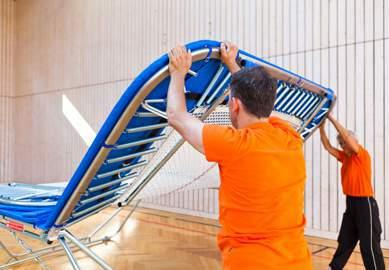 The outer frame should be straight and no bowing, this can be caused by dropping the ends of the trampoline.