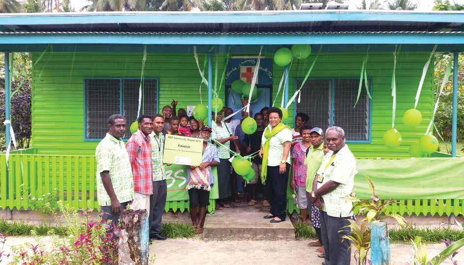 COMMUNITY PROJECTS IN PAPUA NEW GUINEA Renovated aidpost in Kavieng, New Ireland Province.