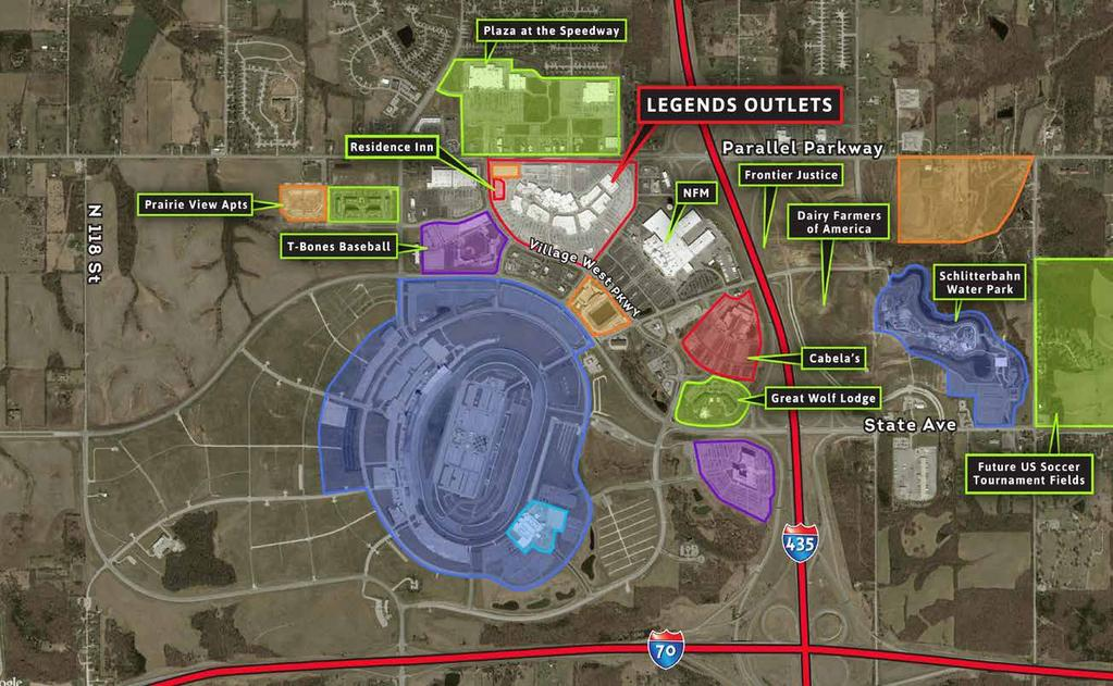 REGIONAL DRAW 306 Village West Luxury Apartments 256 New Legends Apartments 18,550 seat MLS venue $62 MIL US SOCCER