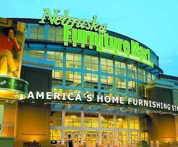 Nebraska Furniture Mart, Warren Buffett s 1 million + SF home furnishing and electronics mecca, and is the retailer s top sales venue in the country.