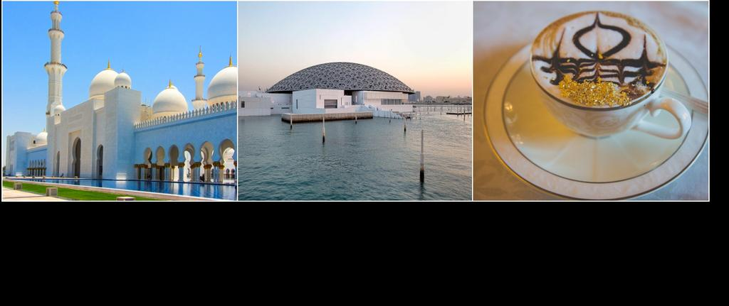 (Breakfast/Lunch/Dinner) After breakfast, depart for an excursion to the capital of the United Arab Emirates, Abu Dhabi and learn more on the region s rich culture and heritage.