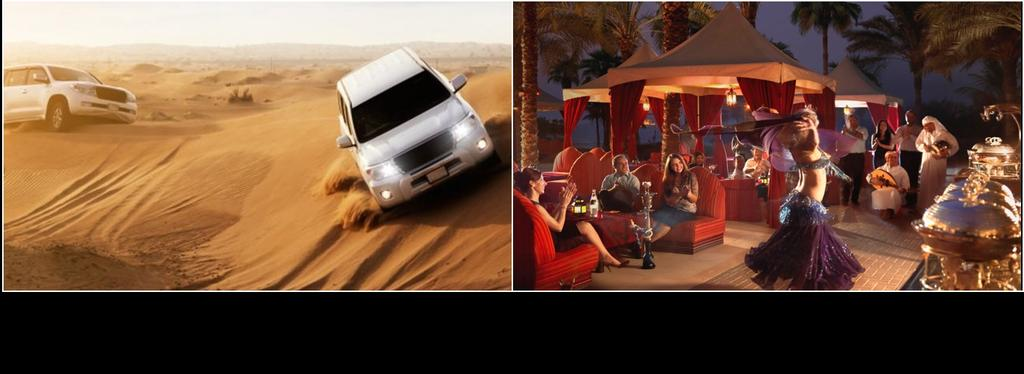 Experience the adrenaline rush of dune bashing as you enjoy an exhilarating ride up and down gigantic sand dunes.