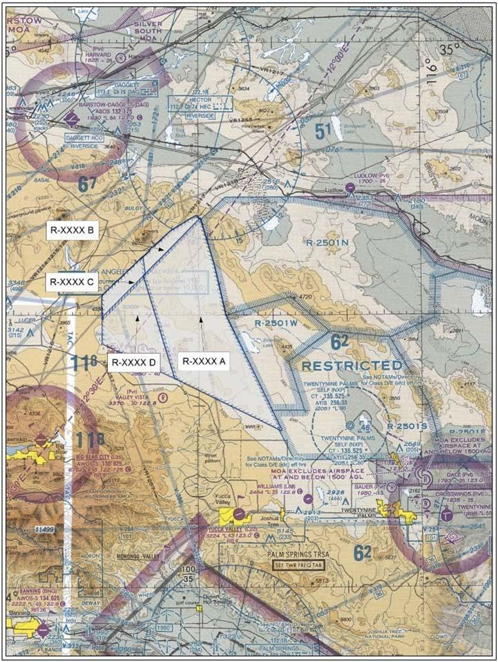 PROPOSED RESTRICTED AIRSPACE WITH PROPOSED PERIODS OF USE The Proposed RA would be activated intermittently through
