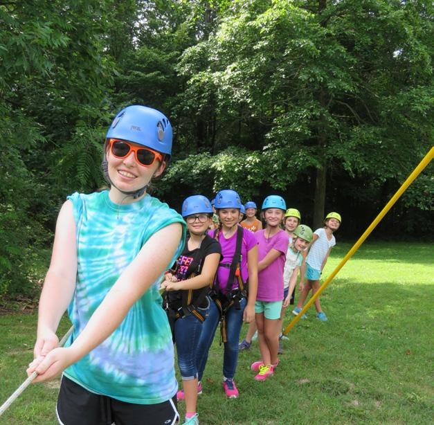 Camp Holloway includes a 40-foot climbing/rappelling tower, archery range, hiking trails, low challenge course, tree-climbing area, swing-bychoice, pool and sleeping units of cabins and platform